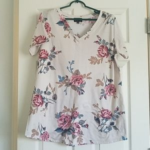Comfy & Cute Floral Tee